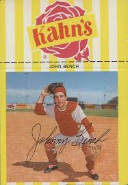 John Bench 1968 Kahn U0027s Johnny Bench Helped Collectors Slash Out Of Topps