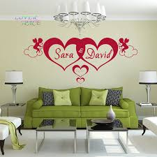 aliexpress com buy custom made love personalised name heart aliexpress com buy custom made love personalised name heart forever wall art wallpapers stickers decor mural you choose name and color from reliable art