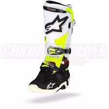 tech 10 motocross boots alpinestars tech 10 black white yellow fluo motorcycle boots tech