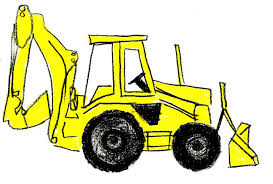 image of backhoe clipart 3772 bulldozer clip art clipartoons