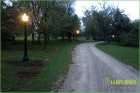 led driveway pole lights lighting outdoor pole lights driveway light post intended for ideas