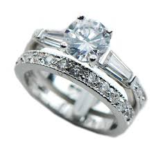 Opal Wedding Ring Sets by Cubic Zirconia Wedding Ring Sets White Gold Compare Prices On Opal