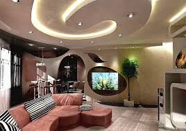 Ceiling design in living room – amazing suspended ceilings