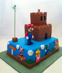 super mario bros cake with mario luigi princess toad and bowser