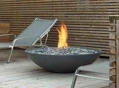 Diy Natural Gas Fire Pit by Love This Gas Bonfire Bowl With River Rock For The Patio Perfect