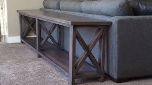 rustic x console table extra long sofa table new ana white no middle shelf rustic x console