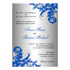 royal blue wedding invitations royal blue wedding invitations announcements zazzle