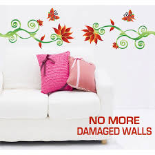 size adorable red flower vine wall stickers totally movable large size adorable red flower vine wall stickers totally movable
