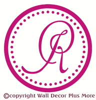 monogram cursive letter with vertical last name 2 color wedding
