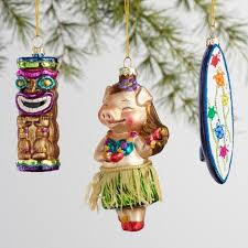 glass hawaii boxed ornaments 3 pack world market