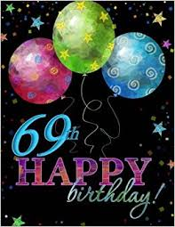 69th birthday card 69th happy birthday guest book 69th birthday party supplies in