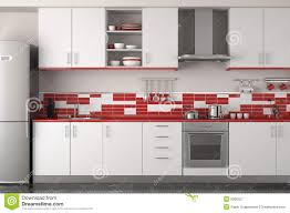 Design Of Modern Kitchen Modern Red Kitchen Stock Images Image 13796814