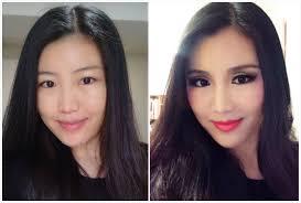 fake eye crease cut crease makeup transformation asian eyes transformation with fake crease