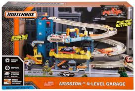 matchbox mission 4 level garage playset toys