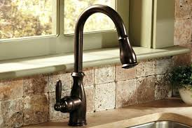 rubbed bronze pull kitchen faucet moen 7594eorb arbor single handle pull kitchen faucet