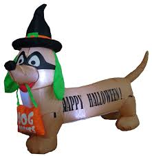 the holiday aisle halloween inflatable dog indoor outdoor