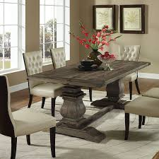 amazon com modway column wood dining table in brown kitchen u0026 dining