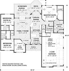 House Over Garage Plans by Floor Plans For 2000 Sq Ft Home