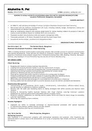 Business Analyst Resume Template Market Research Analyst Resume Sample Resume Peppapp