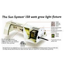 150 watt high pressure sodium light fixture sun system 900490 150w hps grow light kit with l