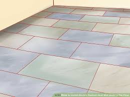 Heated Bathroom Floors Wonderful How To Install Nuheat Electric Heated Mat Radiant
