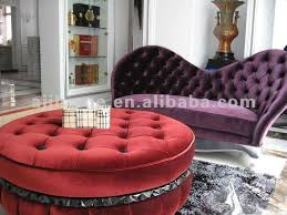 1 1m big round purple velvet ottoman bp55 bp55