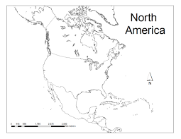 Blank Continents Map by Geography Blog Printable Maps Of North America North America