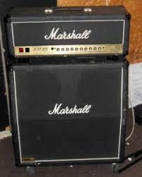 marshall jcm 900 half stack tube amp with 4x12 speaker cabinet