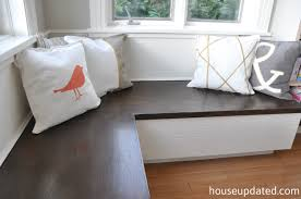Banquet Or Banquette Banquette Paint Pillows U003d Eating Area All Done House Updated