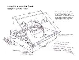 Student Desk Woodworking Plans by Animation Studio Stuff For Students Do It Yourself Animation Desk