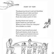 point of view by shel silverstein vegan thanksgiving
