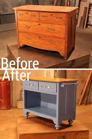 repurposed kitchen island ideas turn an dresser into useful kitchen island upcycle