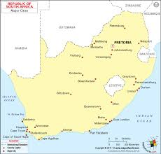 a picture of south africa map cities in south africa south africa cities map