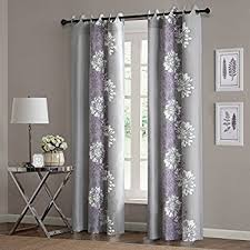 Purple Grey Curtains Evideco Striped Sheer Grommet Curtain Panels Riviera