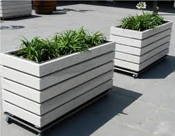 gardening boxes on wheels home outdoor decoration
