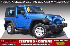 convertible jeep blue used 2016 jeep wrangler sport at edmundston honda 40536