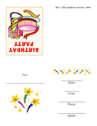 birthday invitation templates free u2013 gangcraft net