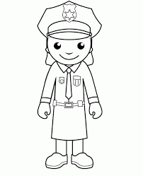 police coloring pages print coloring