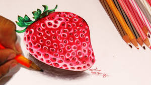draw strawberry color pencil version step by step video youtube