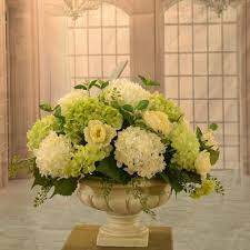 silk flower arrangements white and green hydrangea large silk flower arrangement ar350