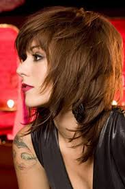 brunette easy hairstyles best layered haircut medium length shaggy brunette hairstyles with