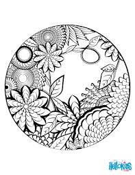 mandala secret garden coloring pages hellokids com
