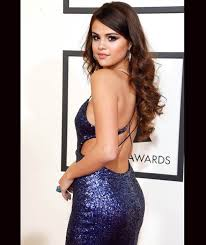 backless dress selena gomez grammy 2016 backless evening dress carpet
