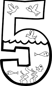 clipart creation day 5 coloring page