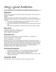 Resume Template For Recent College Graduate Examples Of High Resumes For College Resume Example And