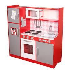 jeu de cuisine facile grand en bois cuisine jouet avec abs en plastique accessoires