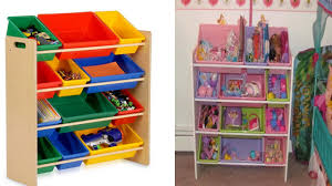 furniture solid wood toy organizer with bins for home furniture ideas
