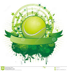 green tennis ball with floral ornaments stock photos image 26655303