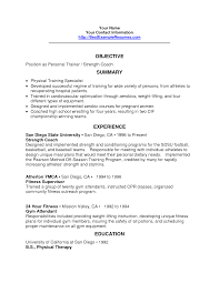 personal trainer resume objective athletic student resume resume for study