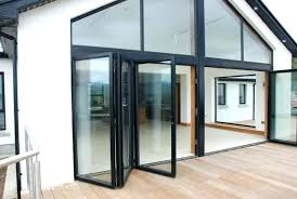 Bi Fold Glass Doors Exterior Cost Exterior Glass Accordion Doors Vennett Smith